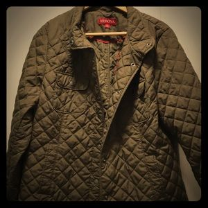 Quilted Olive Green Jacket